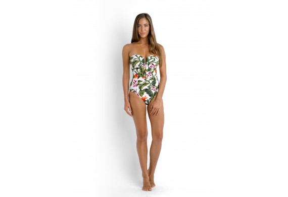 Seafolly  Jungle Out There C/D Maillot Strapless Swimsuit