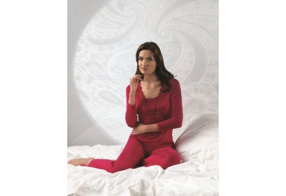 Vanilla Ruby Red Long Sleeve PJ Set