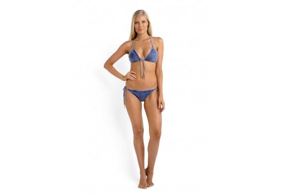 Seafolly Deja Blue Slide Triangle Denim Bikini Top