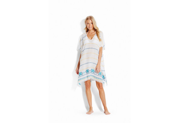 Seafolly Sunflower Embroidered Kaftan