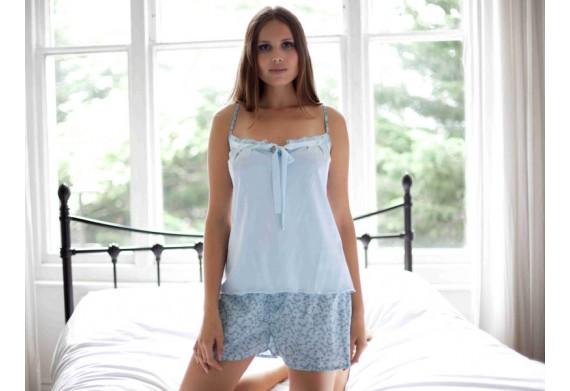 Cottonreal Jersey Dittsy Floral Keyhole Cami Set