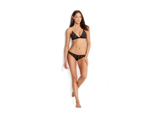 Seafolly Dawn to Dusk Embroidered Fixed Tri Bikini Top