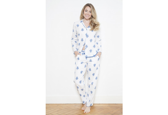 Cyberjammies Lara White Print Pyjama Set