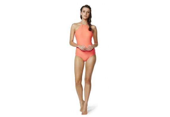 Piha Solid Separates High Neck Swimsuit