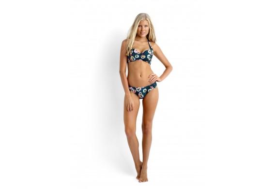 Seafolly Cabana Rose Padded Halter-Neck Bikini Top