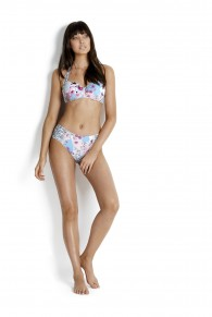 Seafolly Ocean Rose Soft Cup Halter Bikini Top