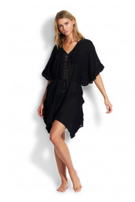 Seafolly Beach Basic Lace Trim Kaftan