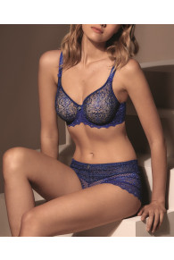Empreinte Cassiopee Seamless Full Cup Wired Bra In Blue Caraibes