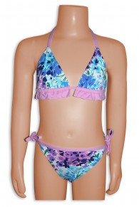 Elizabeth Hurley Flower Print Bikini For Little Girls