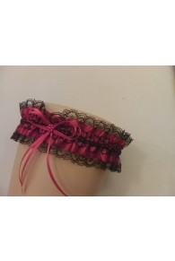 Black & Red Lace Garter