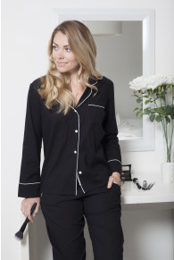 Cyberjammies Luna Black Stripe Pyjama Set
