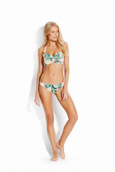 Seafolly Las Palmas Twist Soft Cup Halter-neck Bikini Top