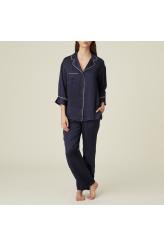 Marie Jo Sakura Blue Silk Pyjama Set