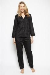 Cyberjammies Nora Rose Violet Dobby Long-sleeved PJ Set